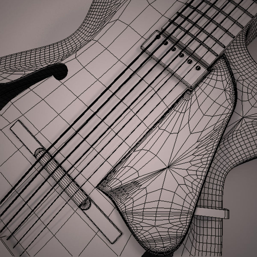 Antique Electric Guitar royalty-free 3d model - Preview no. 18