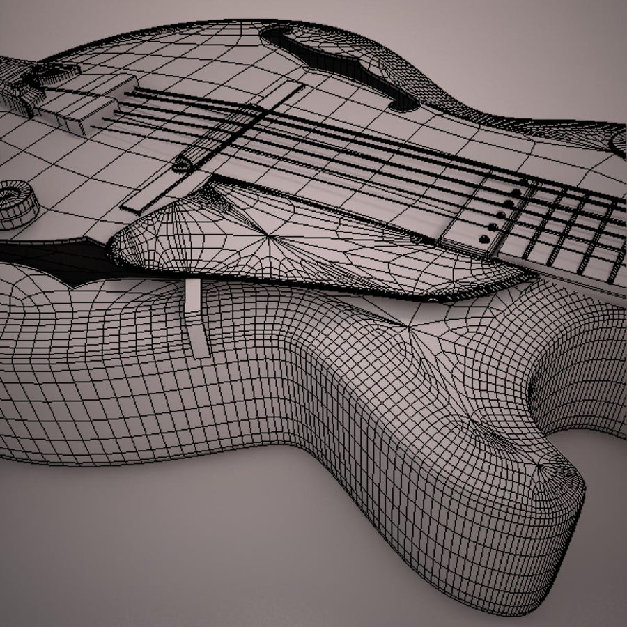 Antique Electric Guitar royalty-free 3d model - Preview no. 23