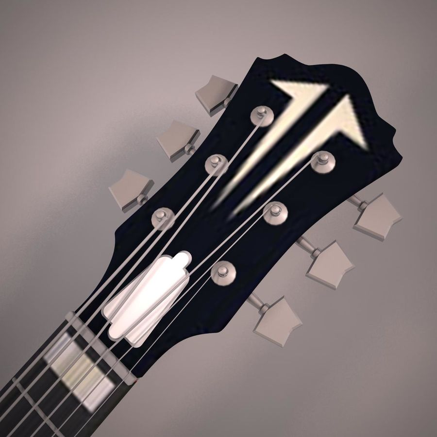 Antique Electric Guitar royalty-free 3d model - Preview no. 8