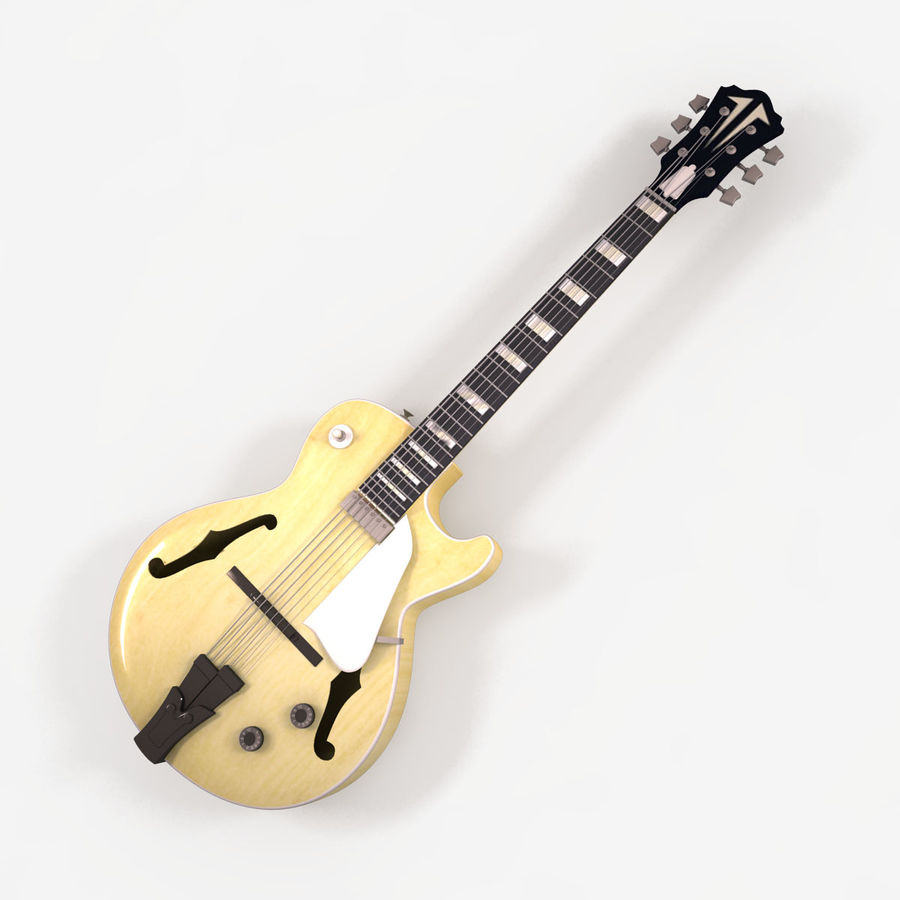 Antique Electric Guitar royalty-free 3d model - Preview no. 1