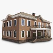 English Brick House 3d model