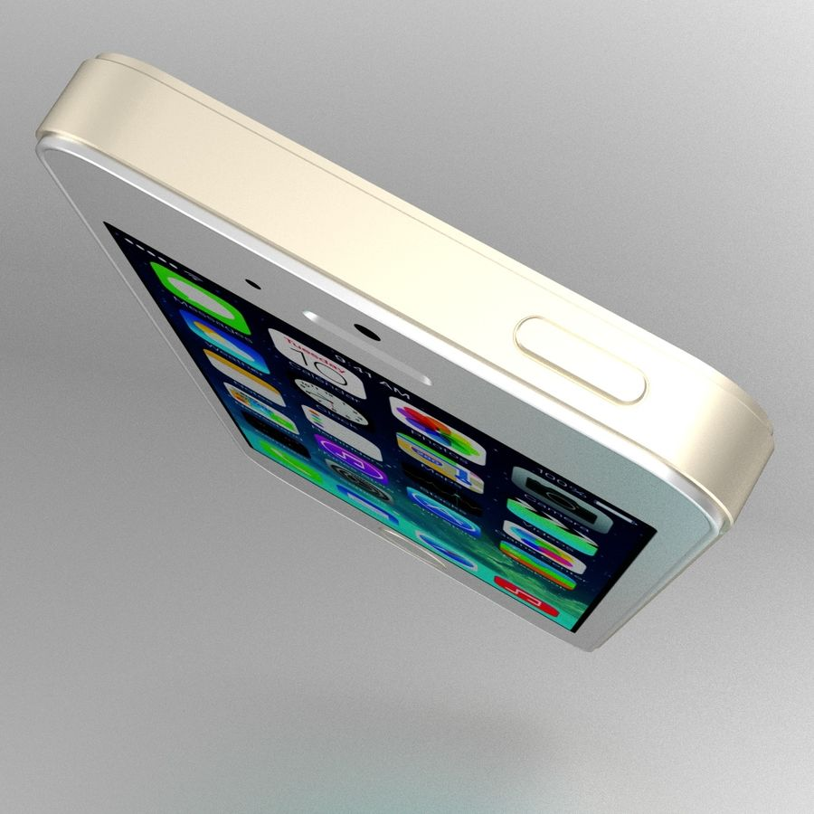 Apple iPhone 5S royalty-free 3d model - Preview no. 7