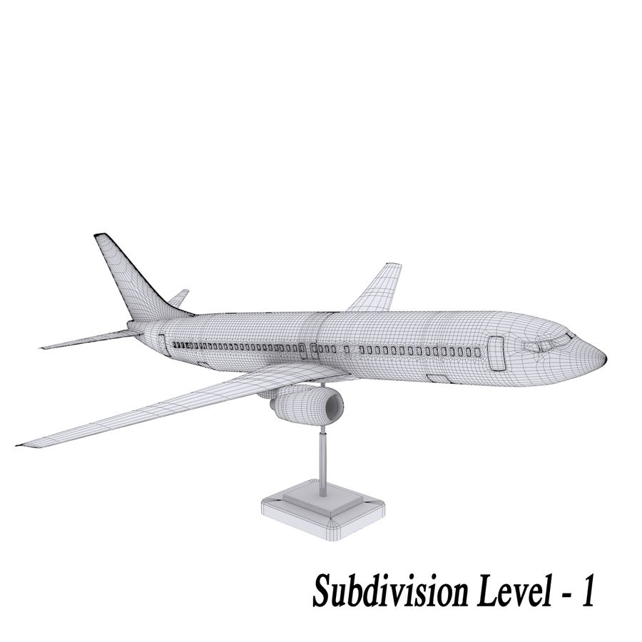 Boeing 737 800 royalty-free 3d model - Preview no. 4