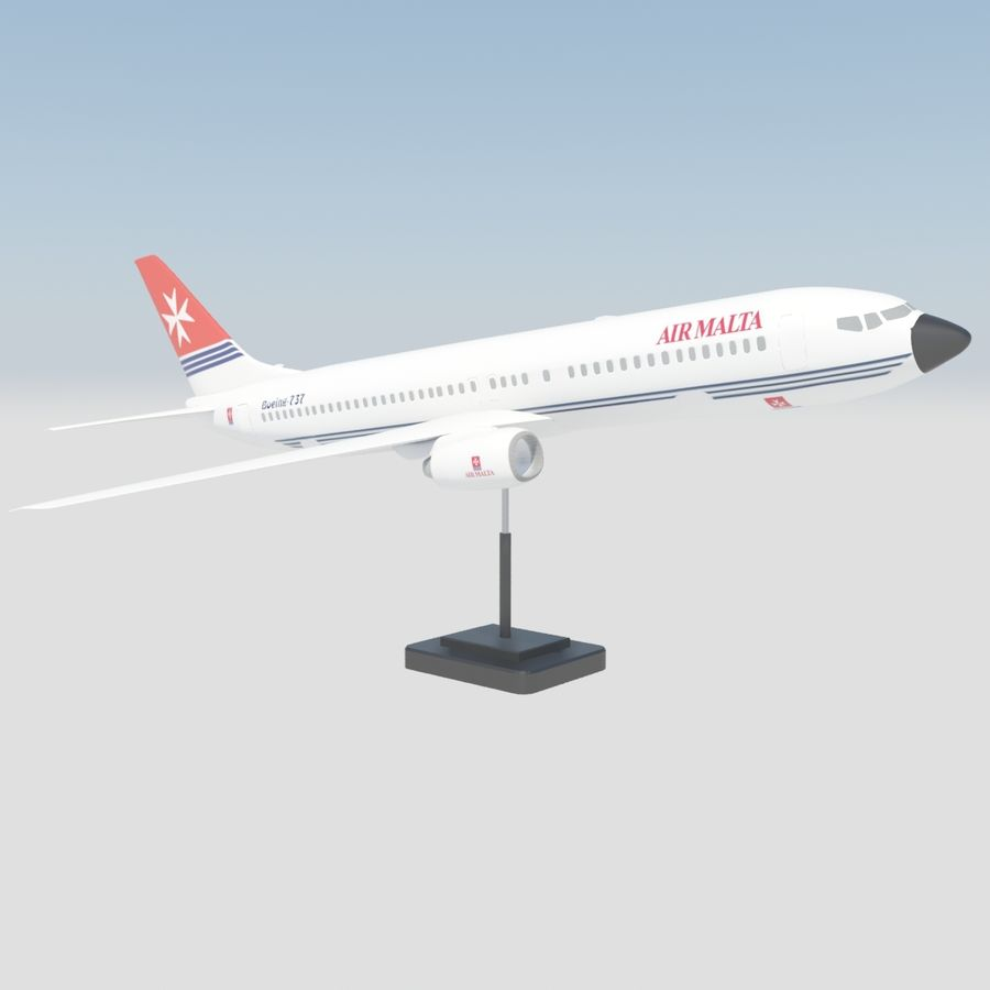 Boeing 737 800 royalty-free 3d model - Preview no. 5