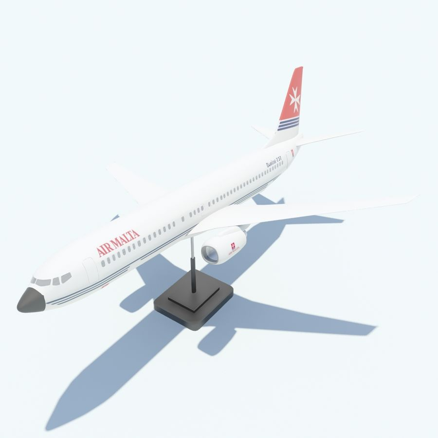 Boeing 737 800 royalty-free 3d model - Preview no. 10