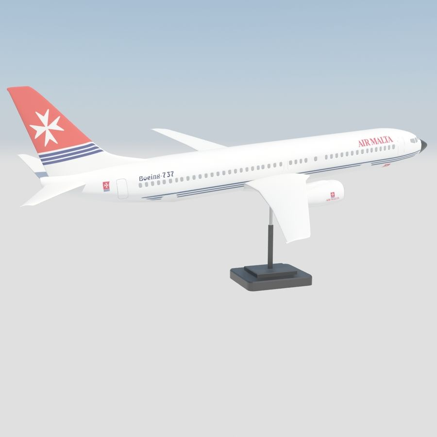Boeing 737 800 royalty-free 3d model - Preview no. 6