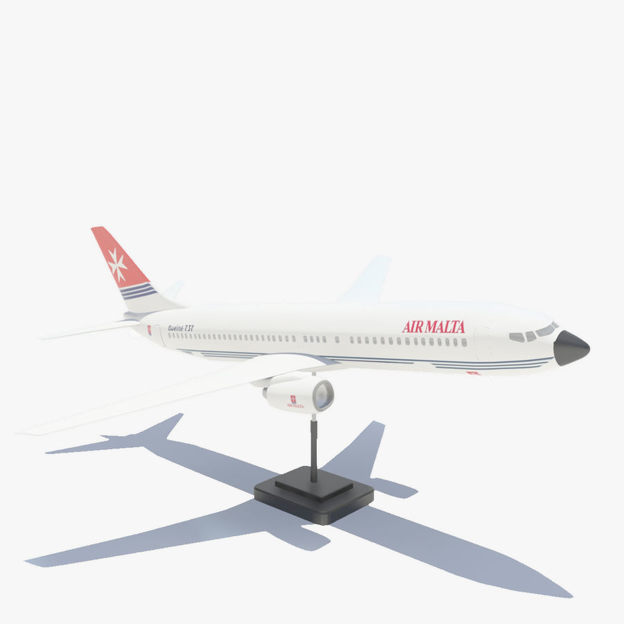 Boeing 737 800 royalty-free 3d model - Preview no. 1