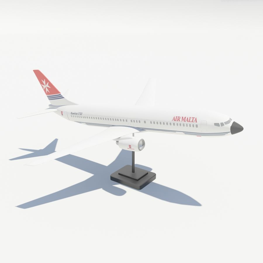 Boeing 737 800 royalty-free 3d model - Preview no. 8