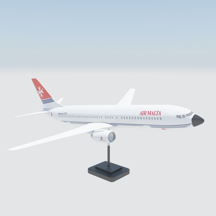 Boeing 737 800 royalty-free 3d model - Preview no. 2