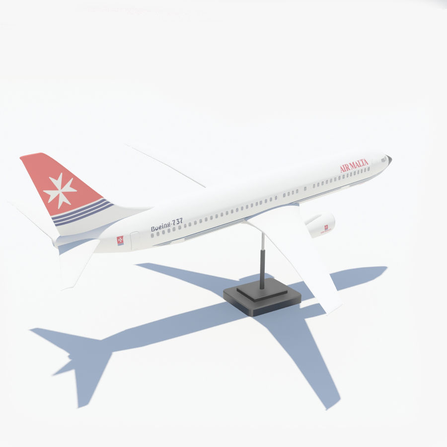 Boeing 737 800 royalty-free 3d model - Preview no. 9