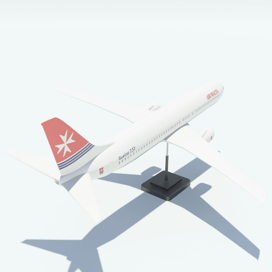 Boeing 737 800 royalty-free 3d model - Preview no. 12
