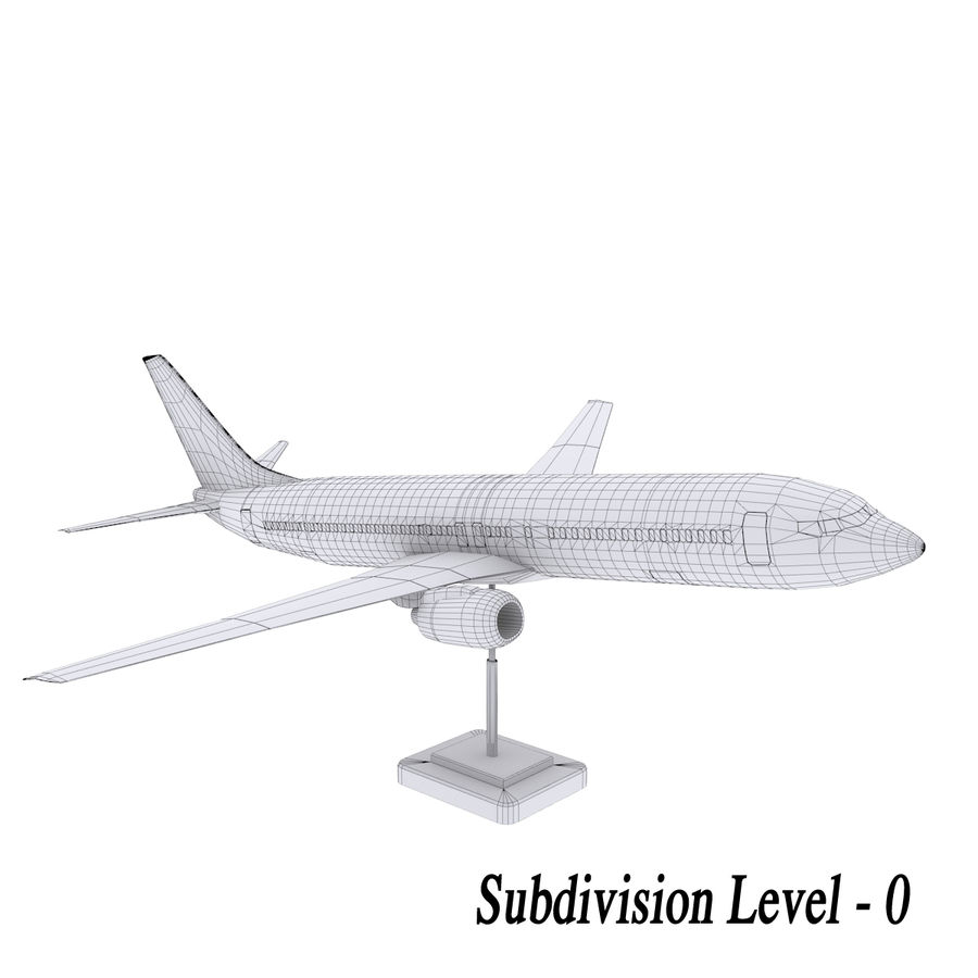 Boeing 737 800 royalty-free 3d model - Preview no. 3