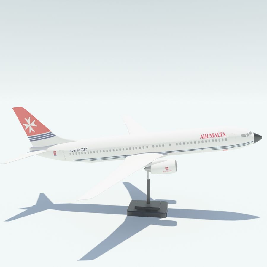 Boeing 737 800 royalty-free 3d model - Preview no. 11