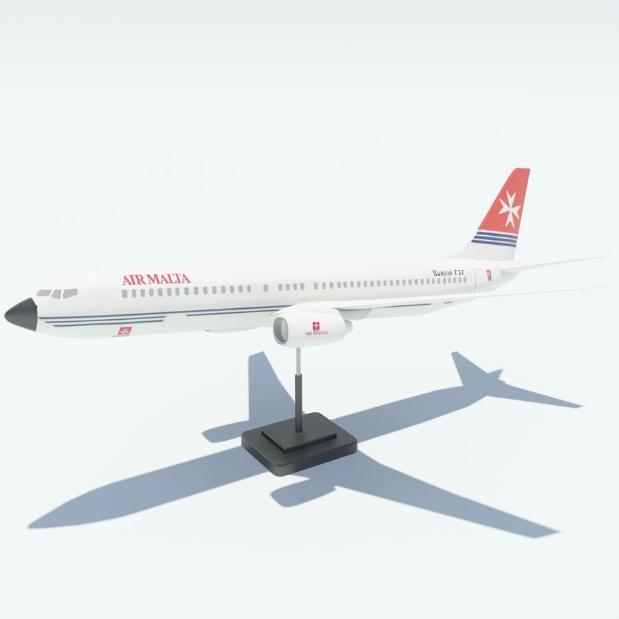 Boeing 737 800 royalty-free 3d model - Preview no. 14
