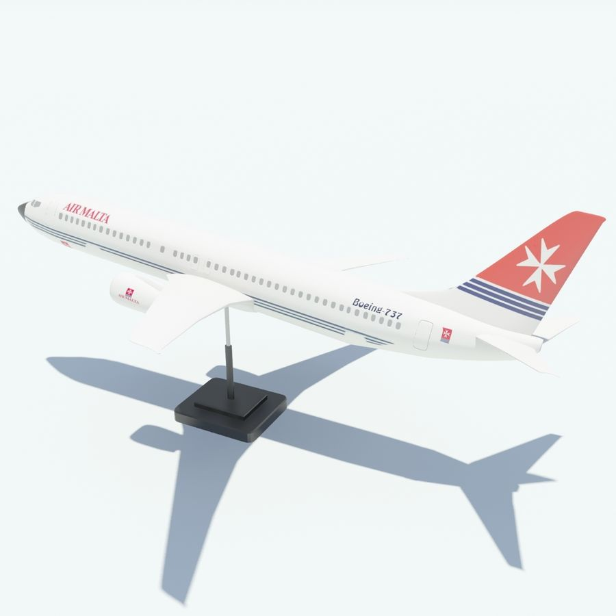 Boeing 737 800 royalty-free 3d model - Preview no. 13