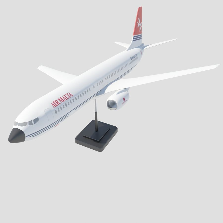 Boeing 737 800 royalty-free 3d model - Preview no. 7
