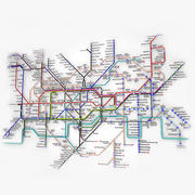 London Underground Map 3d model