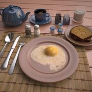 Scène du petit déjeuner 3d model