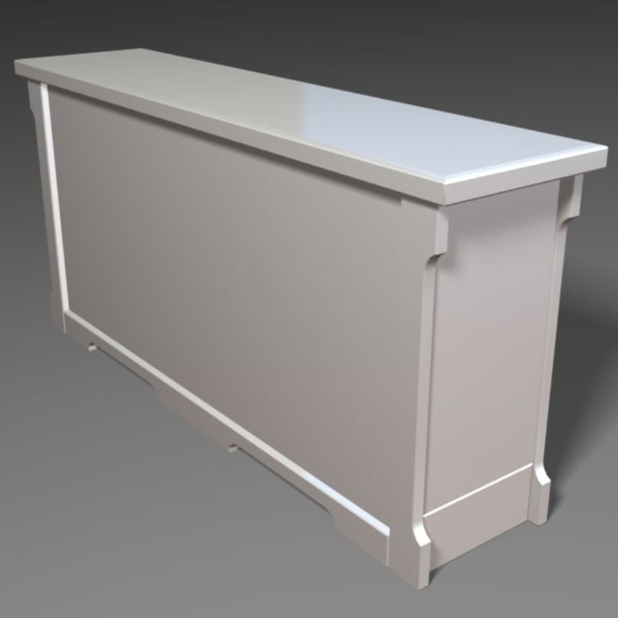 Wit dressoir royalty-free 3d model - Preview no. 4