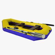 Надувная лодка 01 3d model