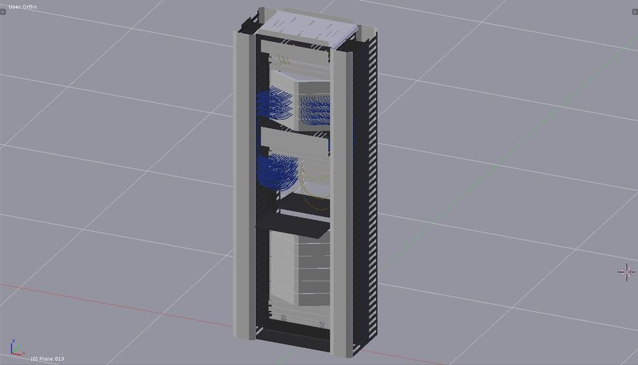 Communication rack royalty-free 3d model - Preview no. 4