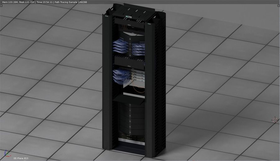 Communication rack royalty-free 3d model - Preview no. 3