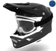 Kabuto - Fiber Carbon Helmet & Goggles 3d model