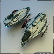 정찰선 3d model