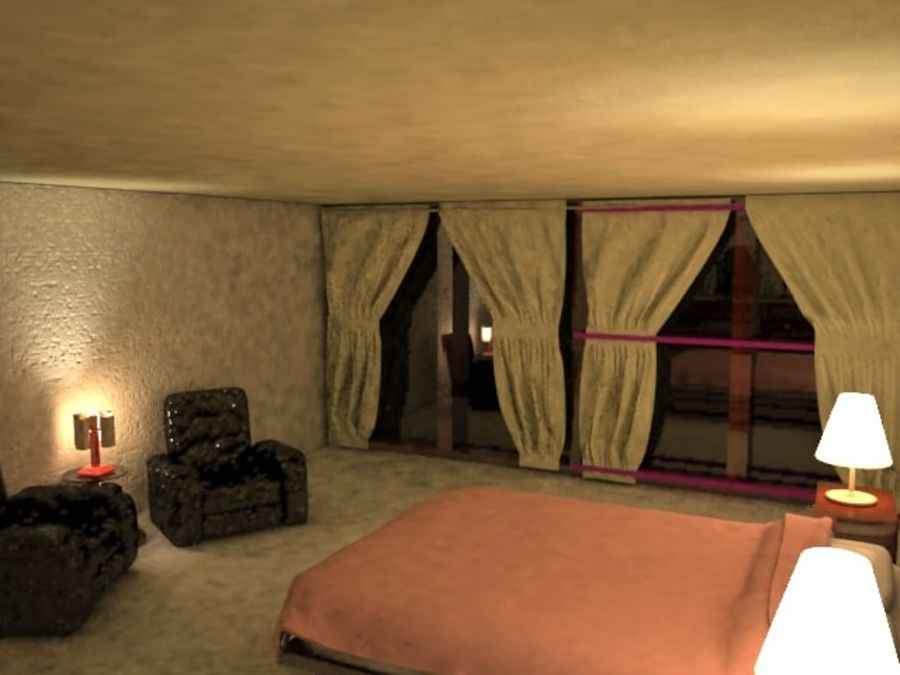 Master Bedroom royalty-free 3d model - Preview no. 1