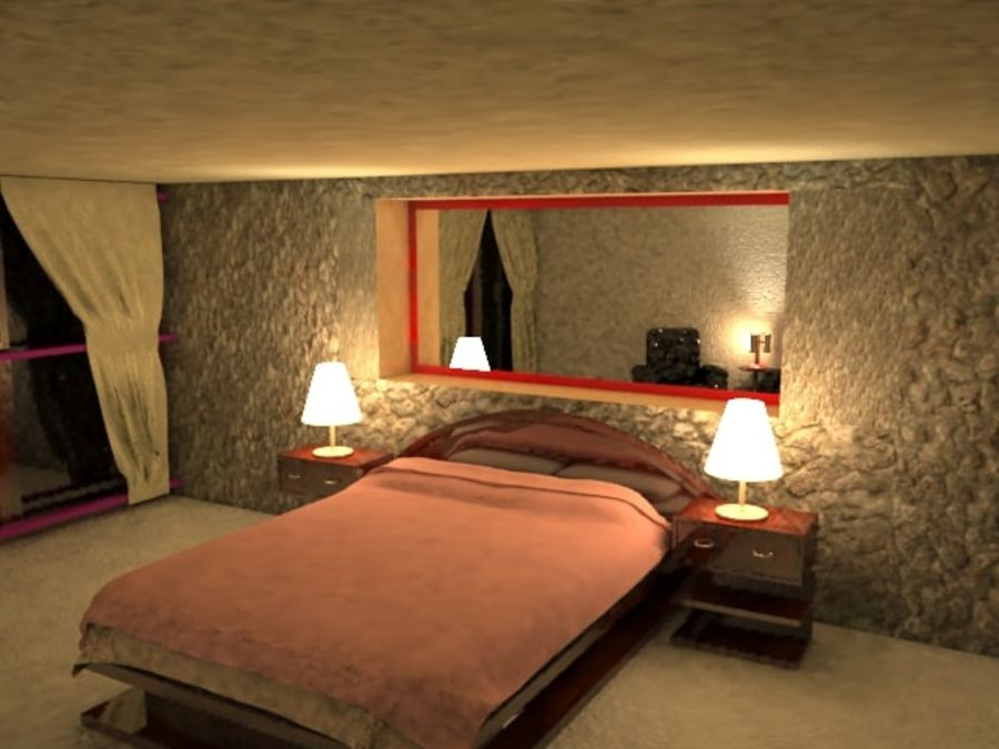Master Bedroom royalty-free 3d model - Preview no. 2