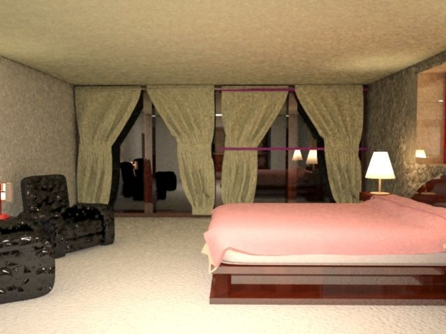 Master Bedroom royalty-free 3d model - Preview no. 5