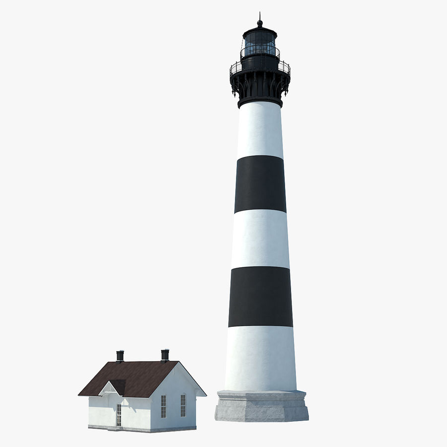 Lighthouse royalty-free 3d model - Preview no. 1