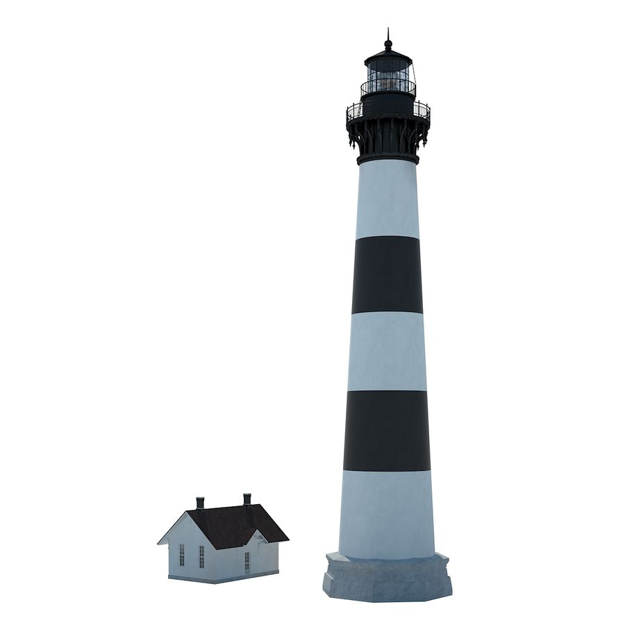Lighthouse royalty-free 3d model - Preview no. 4