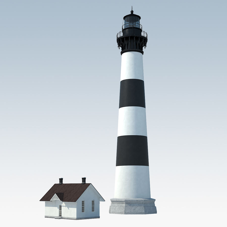 Lighthouse royalty-free 3d model - Preview no. 2