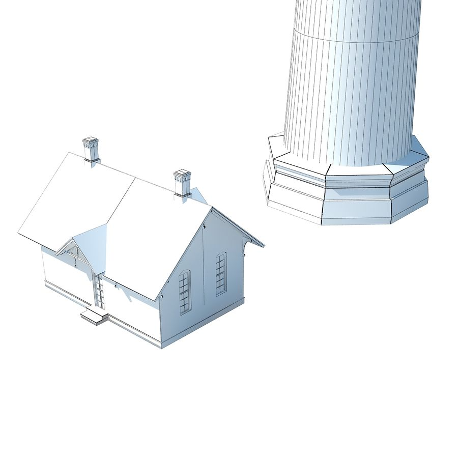 Lighthouse royalty-free 3d model - Preview no. 12