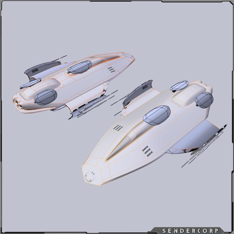 Gunship royalty-free 3d model - Preview no. 4