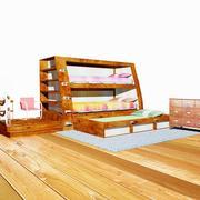 이층 침대 3d model