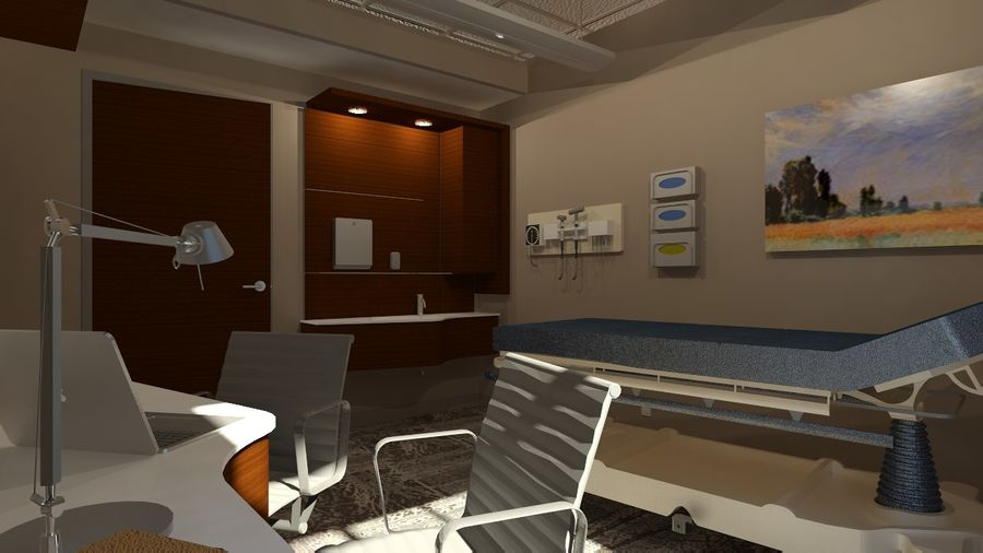 Consulting Room royalty-free 3d model - Preview no. 3