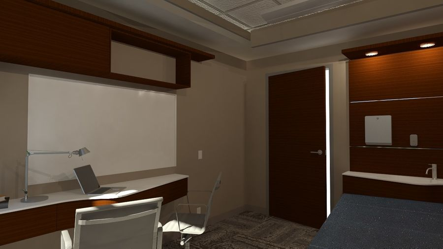 Consulting Room royalty-free 3d model - Preview no. 4