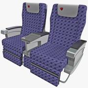 Aircraft Passenger Seats 4 3d model