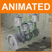 Engine Animated 3d model