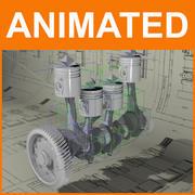 Motore animato 3d model