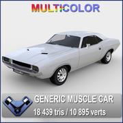 """Muscle Car """"Kowalsky"""" 3d model"""