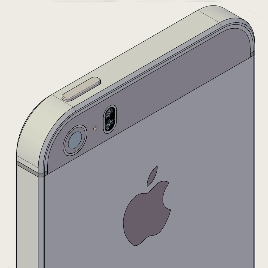 Apple iPhone 5s royalty-free 3d model - Preview no. 11