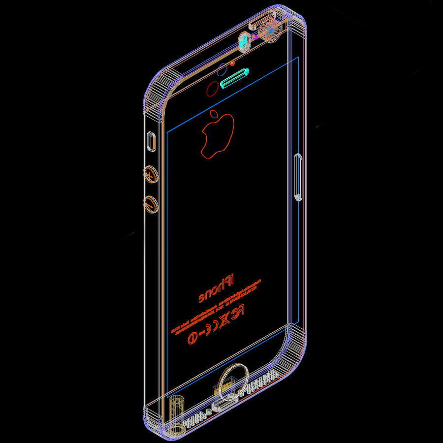 Apple iPhone 5s royalty-free 3d model - Preview no. 10