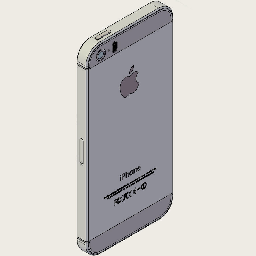 Apple iPhone 5s royalty-free 3d model - Preview no. 8