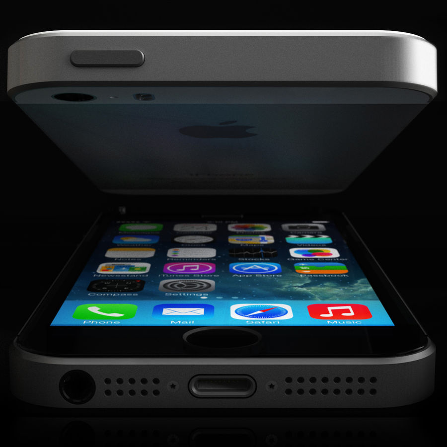 Apple iPhone 5s royalty-free 3d model - Preview no. 5