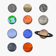 Cartoon Planets 3d model