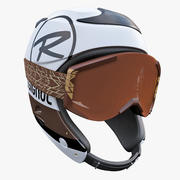 Casco e occhiali alpini 3d model