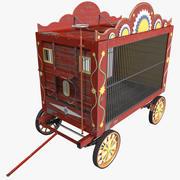 Vagão de circo 3d model